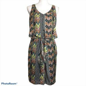 Jessica Simpson sleeveless print dress. Sz 6